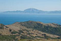 Strait of Gibraltar. Beautiful view on strait of Gibraltar, Spain Royalty Free Stock Image