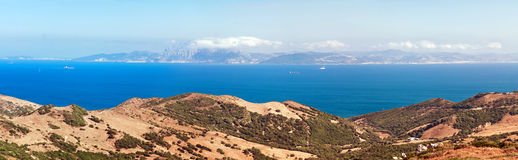 Strait of Gibraltar Royalty Free Stock Photography