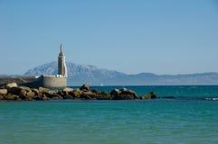 Strait of Gibraltar, Tarifa. Beautiful view strait of Gibraltar, Tarifa, Spain Stock Photos