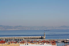 Strait of Gibraltar; two continents. Stock Images