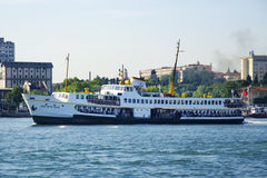 Strait of Istanbul, Kadikoy Pier and Ferries. Royalty Free Stock Image