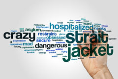 Strait jacket word cloud Royalty Free Stock Photography