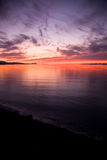 Strait of Juan de Fuca Sunset Royalty Free Stock Photo