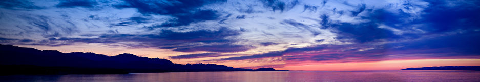 Strait of Juan de Fuca Sunset Stock Photography