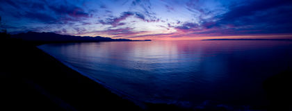 Strait of Juan de Fuca Sunset Stock Photo