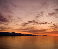 Strait of Juan de Fuca Sunset Stock Image