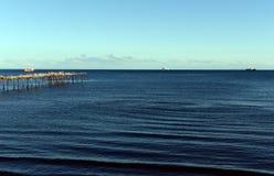 The Strait of Magellan at Punta arenas. PUNTA ARENAS, CHILE - NOVEMBER 10,2014:The Strait of Magellan at Punta arenas Royalty Free Stock Photography