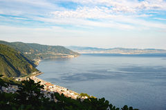 Strait of Messina seen from Calabria Royalty Free Stock Image