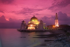 Strait Mosque Stock Photography