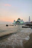Strait mosque during sunset Stock Photography