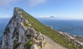 Straiten av Gibraltar Arkivbild