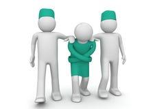 Straitjacket desgastando psicótico - cuidados médicos ilustração do vetor