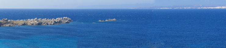 Straits of Bonifacio & Corsica stock image