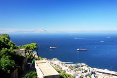 Straits of Gibraltar Stock Photography