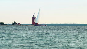 Straits of Mackinac stock video footage