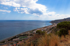 The Straits of Messina (Italy). View of the Straits of Messina (Italy Stock Images