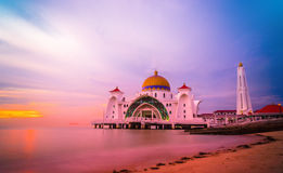 Straits Mosque Royalty Free Stock Photo