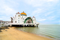 Straits Mosque, Malacca Royalty Free Stock Photos