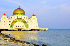 Straits Mosque, Melaka royalty free stock photos
