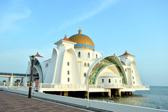 The Straits Mosque Melaka Royalty Free Stock Image