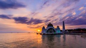 Straits mosque stock image