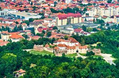 Straja hill fortress in Brasov, Romania royalty free stock photo
