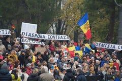 Strajk na 20th 2016 Listopadzie Mieszkana protest przeciw rynkowi na kwadracie bologna Włochy Fotografia Stock