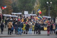 Strajk na 20th 2016 Listopadzie Mieszkana protest przeciw rynkowi na kwadracie bologna Włochy Fotografia Royalty Free
