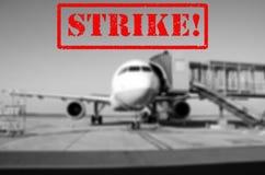 Strajkowy lotniskowy tło obrazy royalty free