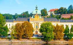 Straka Academy, the seat of Government of Czech Republic, Prague.  Stock Photography