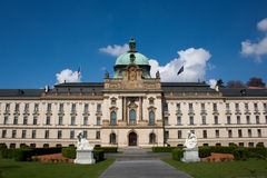 Straka's academy. In Prague the seat of government of Czech Republic royalty free stock photo