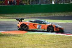 Strakka die McLaren 650 S GT3 rennen in Monza Royalty-vrije Stock Afbeelding