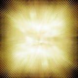 Stralen in abstract groen geel heelal vector illustratie