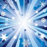 Stralen en sneeuwvlokken. Stock Foto's