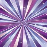 Stralen en sterren. Stock Afbeelding