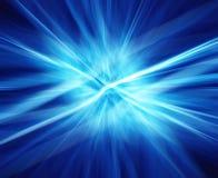 Stralen van blauwe energie. Stock Afbeeldingen