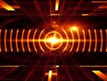 Stralen van energie Stock Afbeeldingen