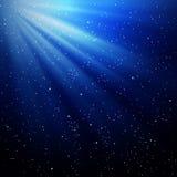 Stralen van licht en sterren Stock Foto