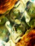 Stralend elven het schepsel en de energielichten van de feevrouw collage Royalty-vrije Stock Afbeeldingen