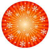 Stralende Kerstmisachtergrond Vector Illustratie