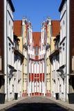 Stralsund gammalt stadabstrakt begrepp royaltyfria foton