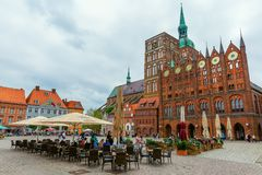 Old market square of Stralsund, Germany royalty free stock image