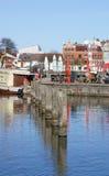 Stralsund hamn royaltyfri fotografi