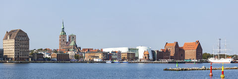 Stralsund harbor Panorama Royalty Free Stock Images