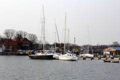 Stralsund Harbour stock image