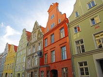 Stralsund. Historic houses in the city centre of Stralsund. The hanseatic city lies in northeastern Germany at the Baltic Sea and the old town is listed as Stock Images
