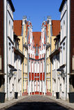 Stralsund Old Town abstract Royalty Free Stock Photos