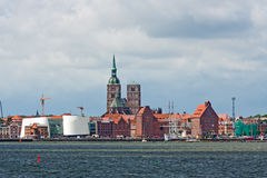 Stralsund, Sankt-Nikolai-Church, Ozeaneum, Harbor Royalty Free Stock Photo