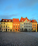 Stralsung in Germany, historical houses on the Market Square Stock Image