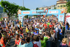 StraLugano half marathon Stock Photo